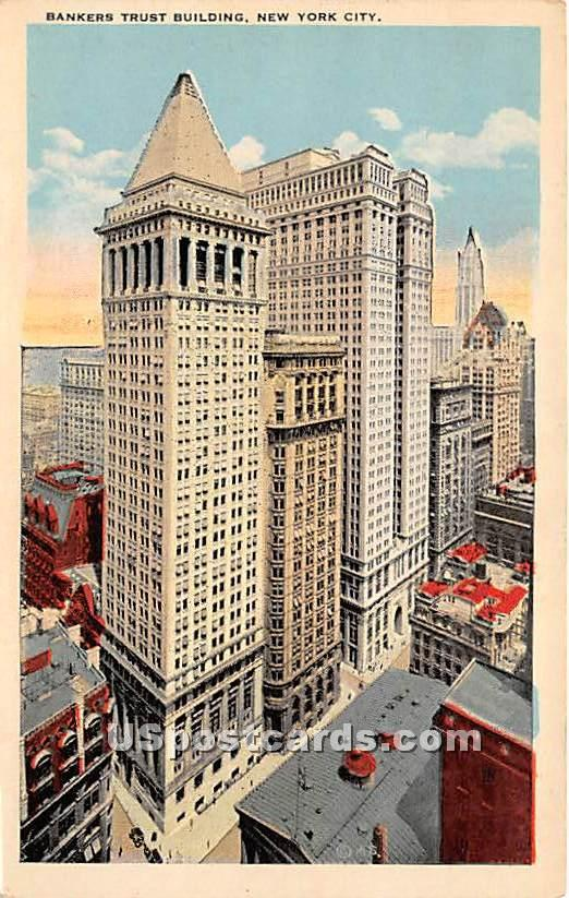 Bankers Trust Building - New York City Postcards, New York NY Postcard