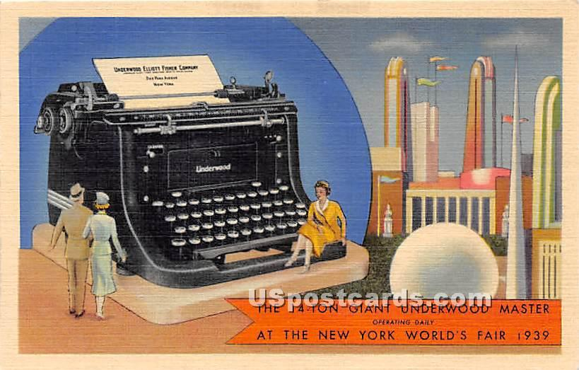 14 Ton Giant Underwood Masteer - New York City Postcards, New York NY Postcard