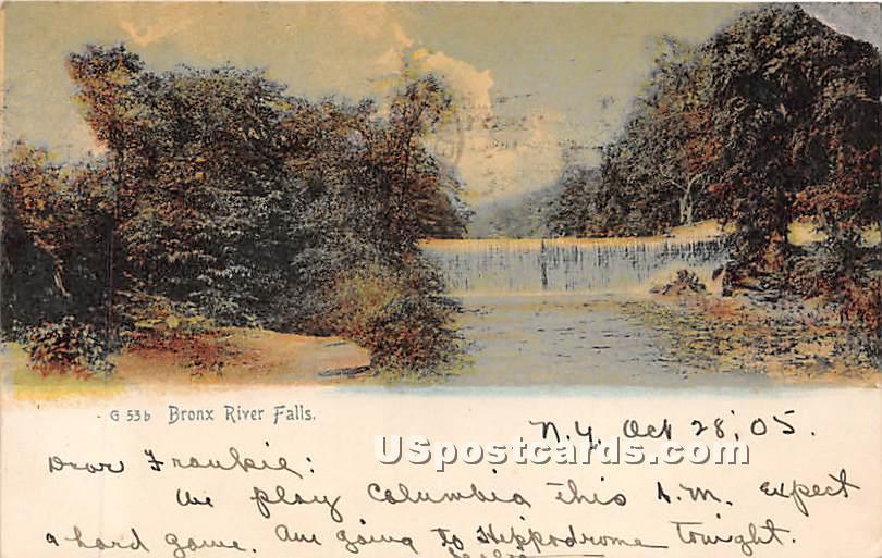 Bronx River Falls - New York City Postcards, New York NY Postcard