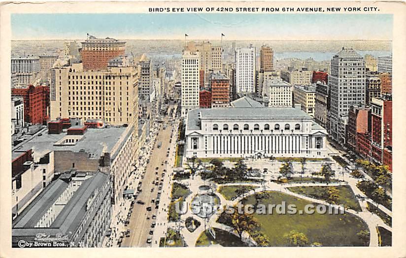 42nd Street - New York City Postcards, New York NY Postcard