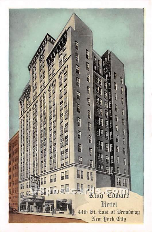 King Edward Hotel - New York City Postcards, New York NY Postcard