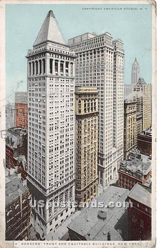 Bankers Trust & Equitable Building - New York City Postcards, New York NY Postcard