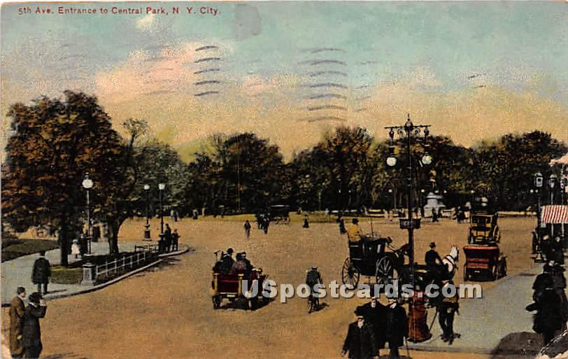5th Avenue, Central Park - New York City Postcards, New York NY Postcard