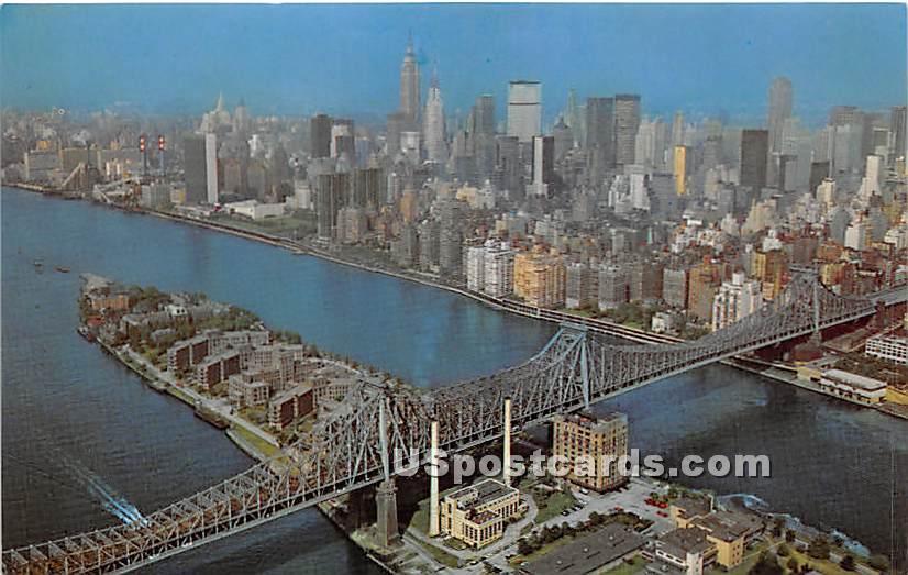 59th Street Bridge - New York City Postcards, New York NY Postcard