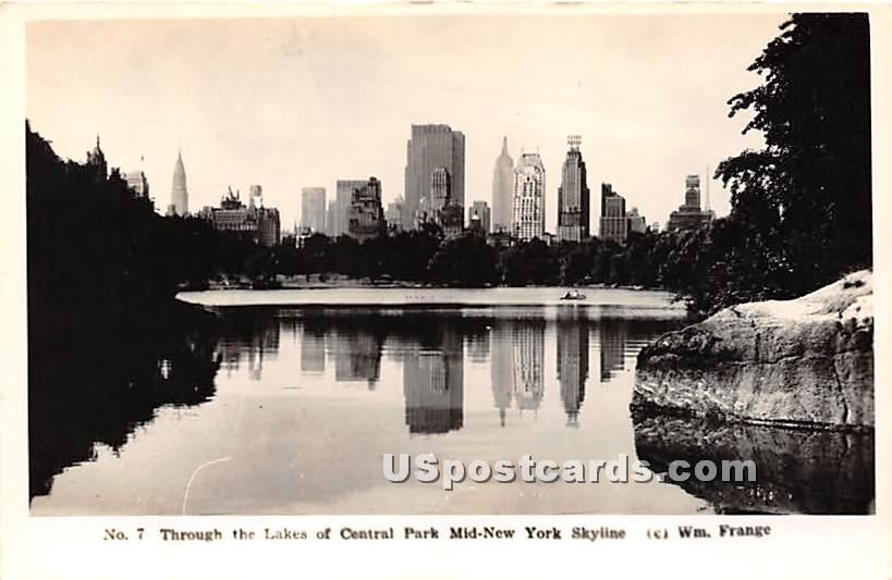 Lake, Central Park - New York City Postcards, New York NY Postcard