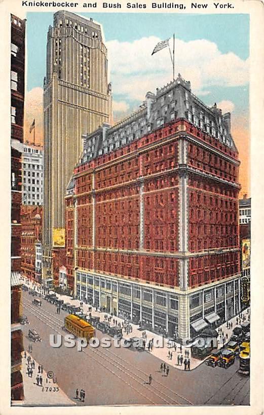 Knickerbocker & Bush Sales Building - New York City Postcards, New York NY Postcard