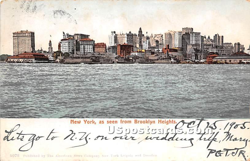Brooklyn Heights - New York City Postcards, New York NY Postcard