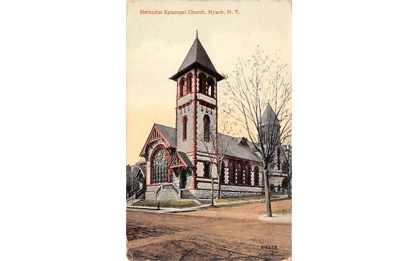 Methodist Episcopal Church Nyack, New York Postcard
