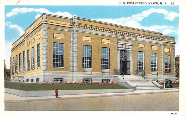 US Post Office Nyack, New York Postcard