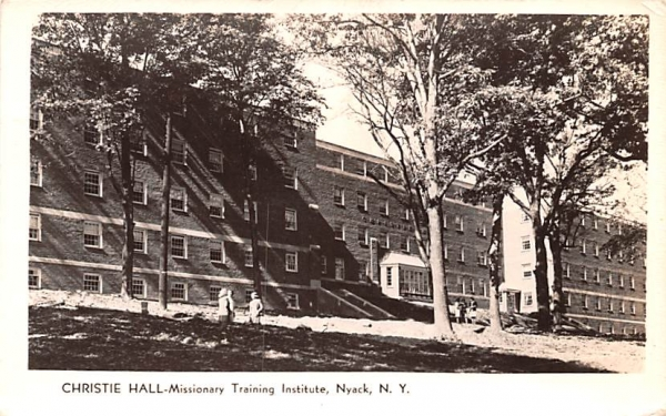 Christie Hall Nyack, New York Postcard