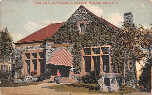 Nyack Public Library New York Postcard
