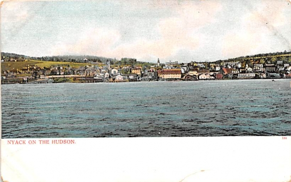 Hudson River Nyack, New York Postcard