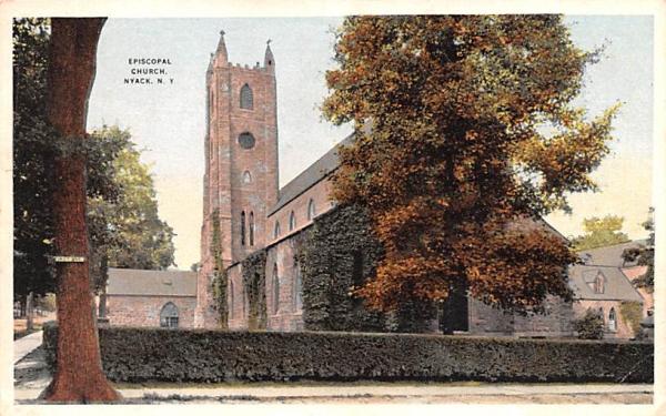 Episcopal Church Nyack, New York Postcard
