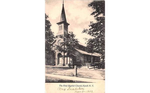 The First Baptist Church Nyack, New York Postcard