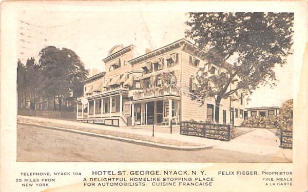 Hotel St George Nyack, New York Postcard
