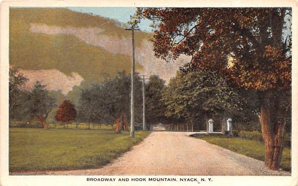 Broadway & Hook Mountain Nyack, New York Postcard