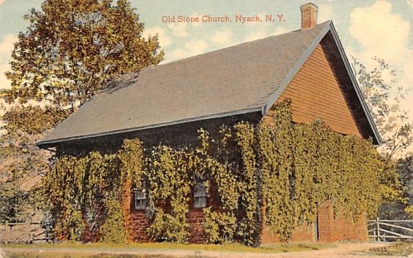 Old Stone Church Nyack, New York Postcard