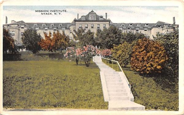 Mission Institute Nyack, New York Postcard