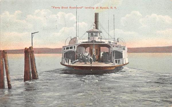 Ferry Boat Rockland Nyack, New York Postcard