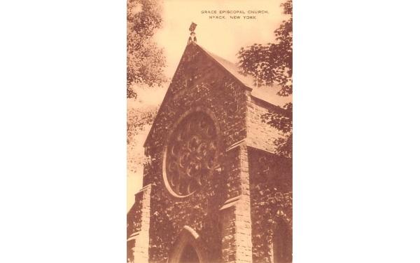 Grace Episcopal Church Nyack, New York Postcard