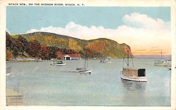 Nyack Mountains New York Postcard