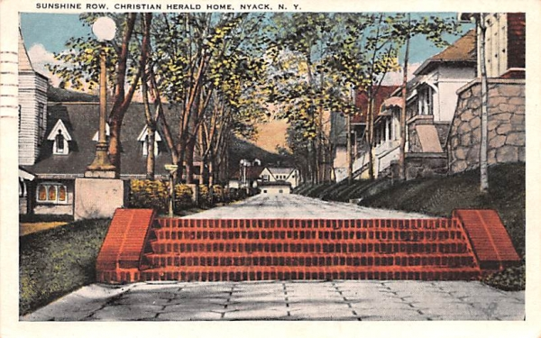 Sunshine Row Nyack, New York Postcard