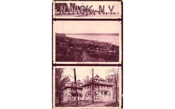 Nyack Hospital New York Postcard