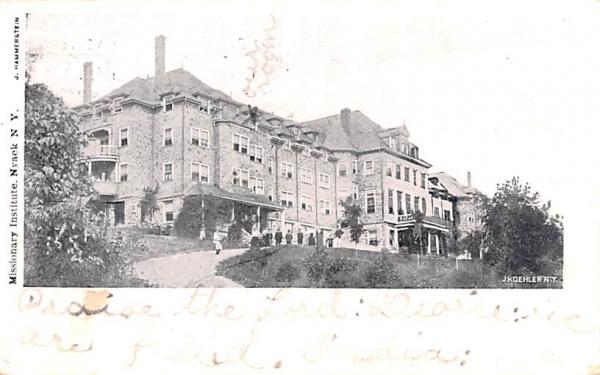 Missionary Institute Nyack, New York Postcard