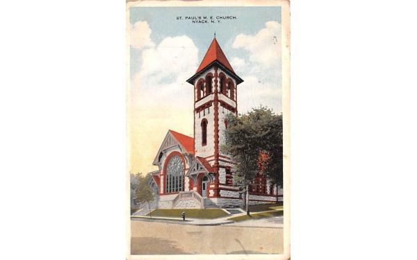 St Paul's ME Church Nyack, New York Postcard