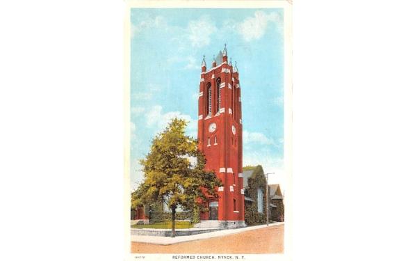 Reformed Church Nyack, New York Postcard