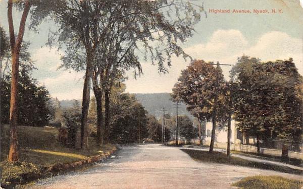 Highland Avenue Nyack, New York Postcard