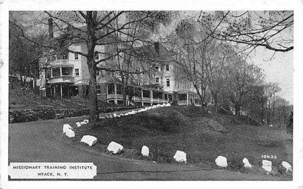 Missionary Training Institute Nyack, New York Postcard