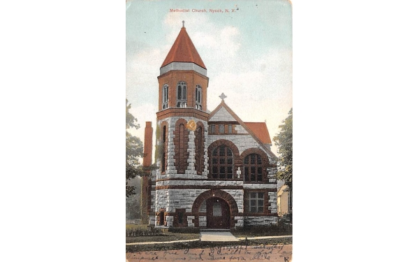 Methodist Church Nyack, New York Postcard