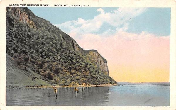 Along the Hudson River Nyack, New York Postcard