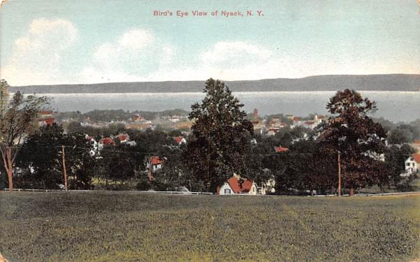 Bird's Eye View Nyack, New York Postcard