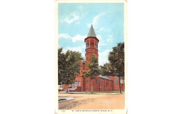 St Ann's Catholic Church Nyack, New York Postcard