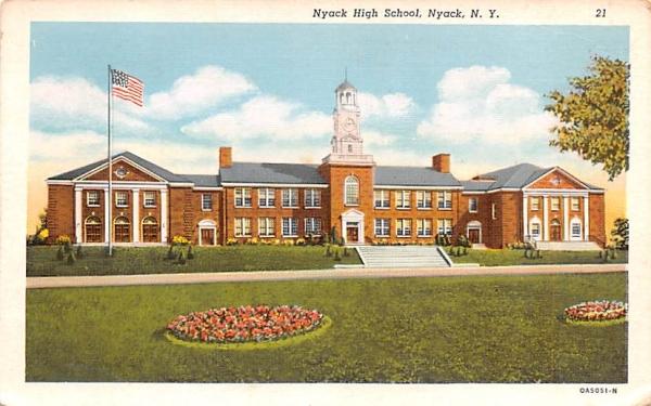 Nyack High School New York Postcard