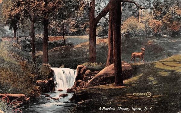 Mountain Stream Nyack, New York Postcard
