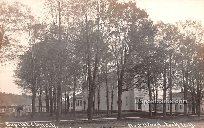Baptist Church - New Woodstock, New York NY Postcard