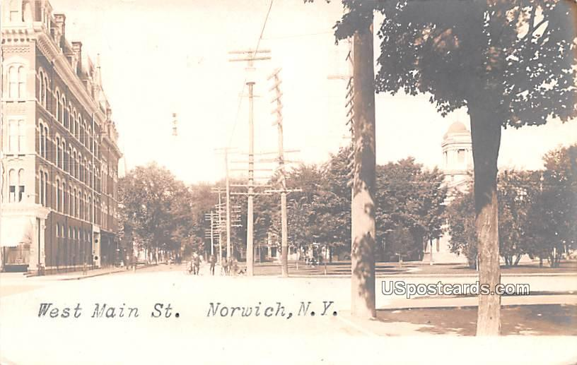 West Main Street - Norwich, New York NY Postcard