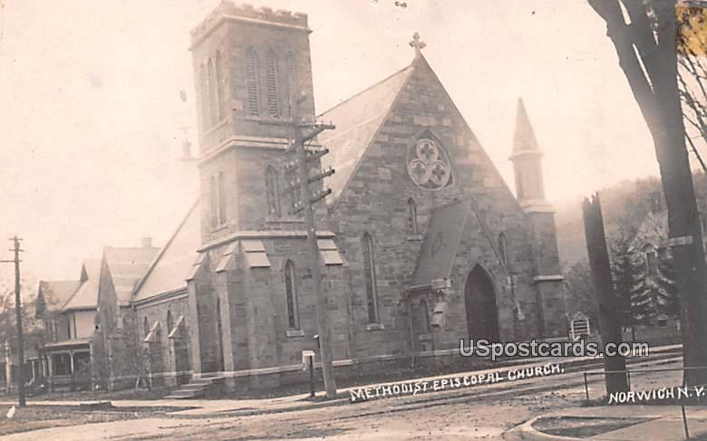 Methodist Episcopal Church - Norwich, New York NY Postcard