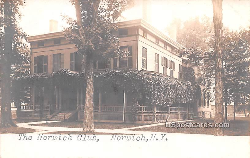 The Norwich Club - New York NY Postcard