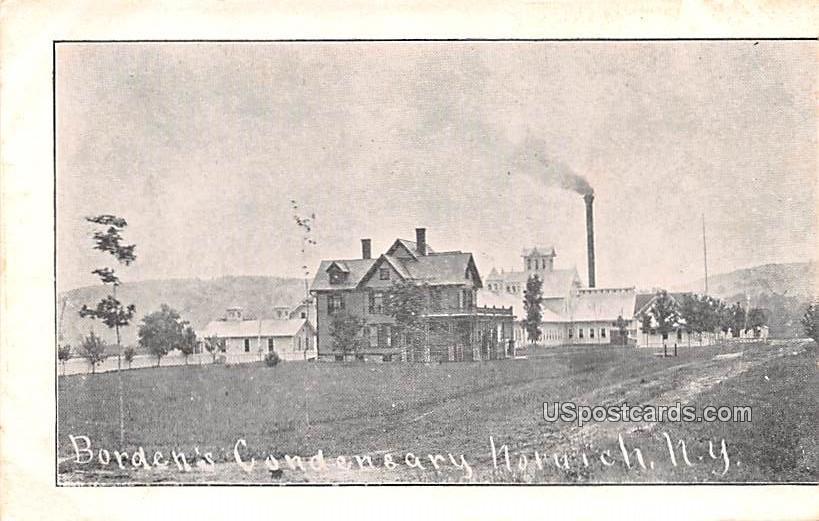 Borden's Condensary - Norwich, New York NY Postcard