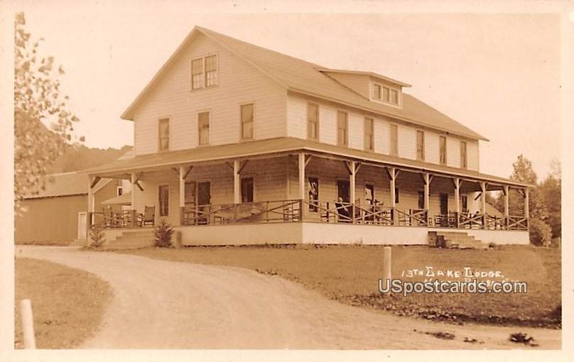 13th Lake Lodge - North River, New York NY Postcard