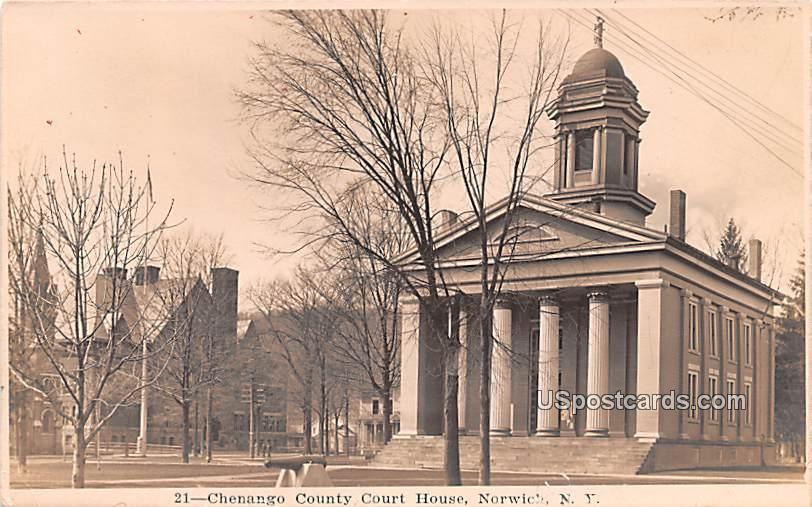 Chenenago County Court House - Norwich, New York NY Postcard