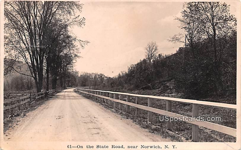 On the State Road - Norwich, New York NY Postcard