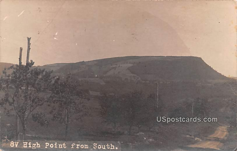 8V High Point from South - Naples, New York NY Postcard