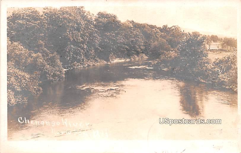 Chengngo River - Norwich, New York NY Postcard