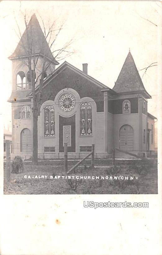 Cavalry Baptist Church - Norwich, New York NY Postcard