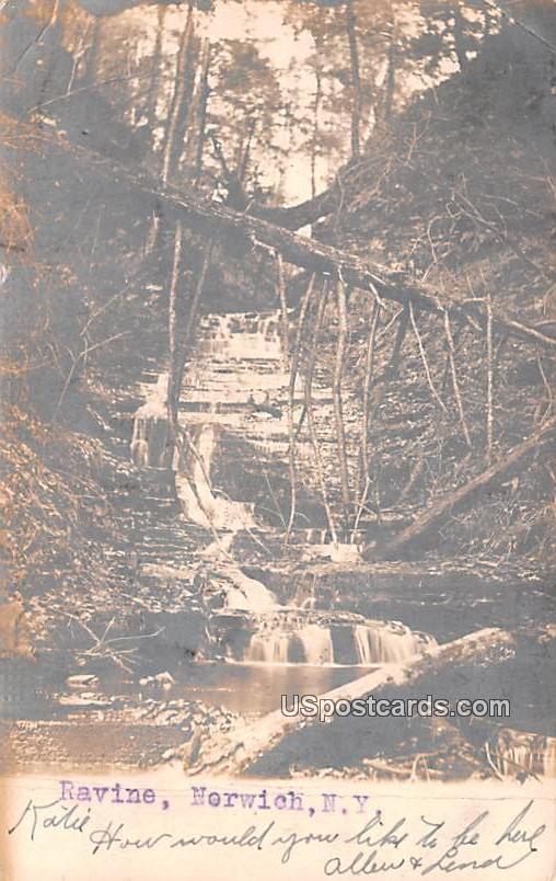 Ravine - Norwich, New York NY Postcard